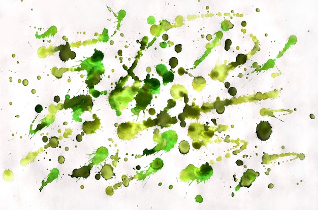 Colorful green and yellow watercolor splash