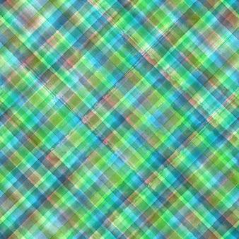 カラフルなグランジギンガムタータンチェック柄斜め抽象的な幾何学的なシームレスパターンの背景