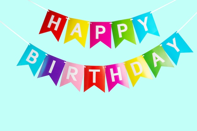Colorful happy birthday letters for birthday party