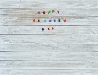 Colorful Happy fathers day sign
