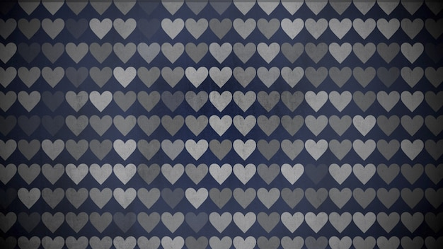 カラフルなハートのパターン、抽象的な背景。エレガントで豪華な幾何学的なスタイルの3dイラスト