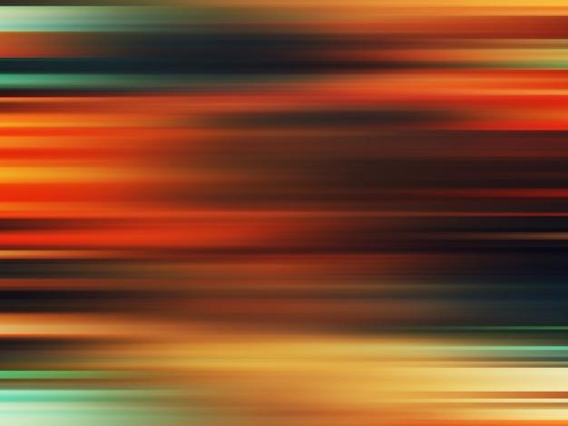 カラフルな水平線パターン、抽象的なグラデーションの背景。柔らかくぼかしモーション効果のある豪華でエレガントなスタイルのイラスト