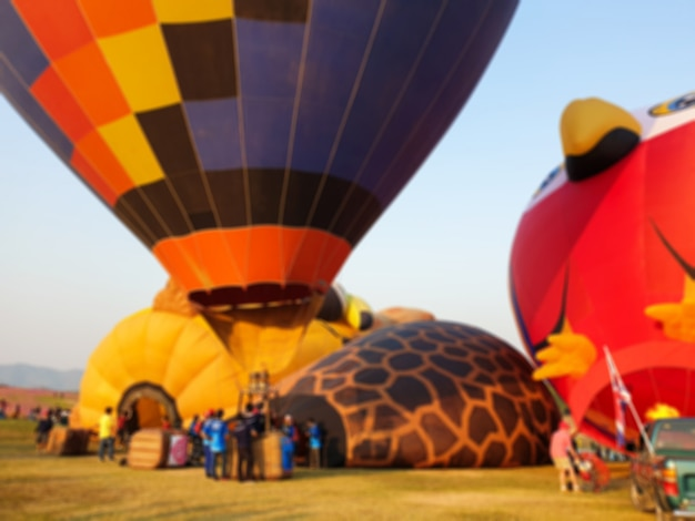 Colorful hot air balloons.