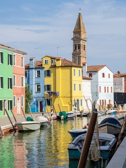 Colorful houses in burano island