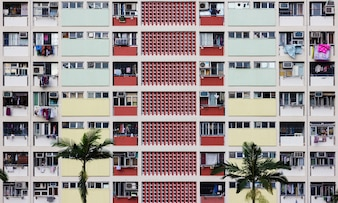 Colorful housing in Hong Kong