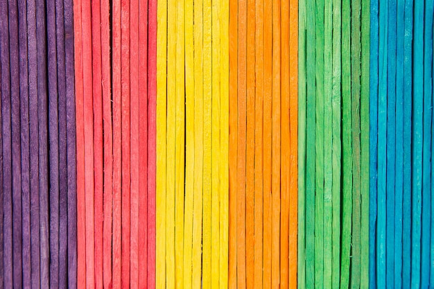 Colorful of ice cream sticks arranged.