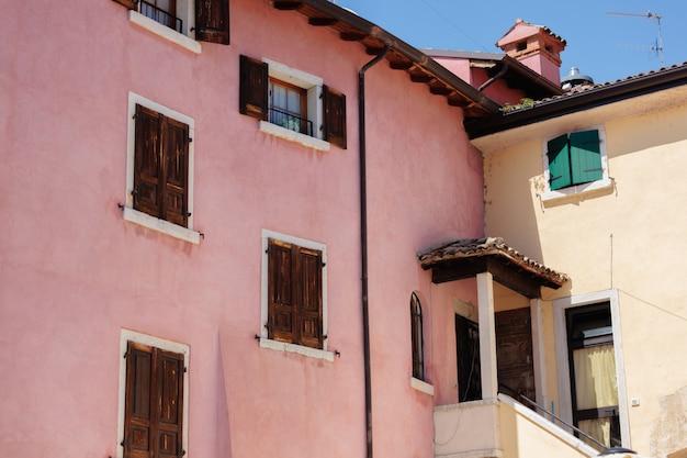 Colorful italian architecture