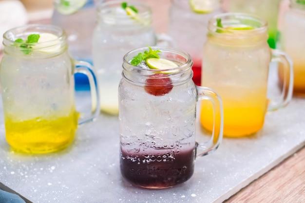 Colorful italian soda