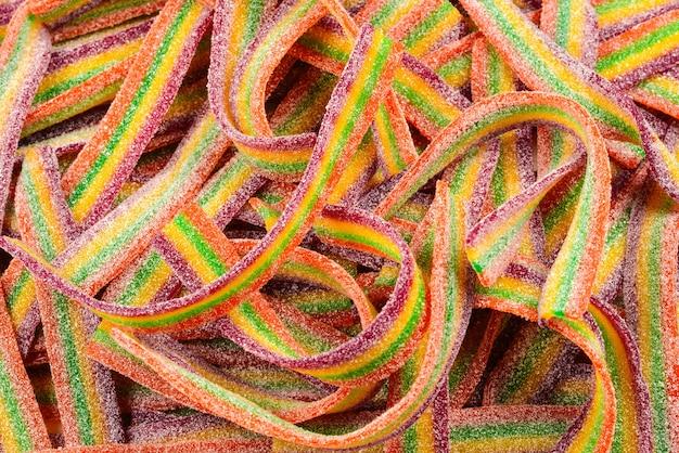 Красочный фон желейных бобов. образец желейных конфет.