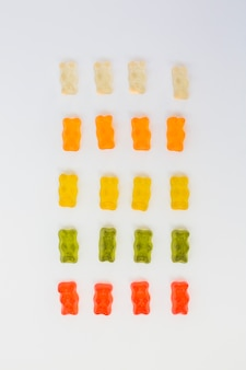 Colorful jelly bears
