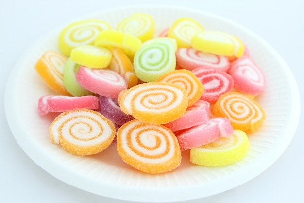 Colorful jelly candy