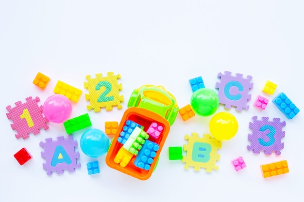 Colorful kids toys