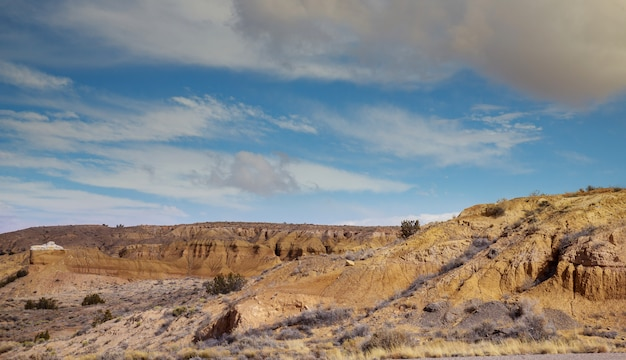 Colorful landscape and scenery in new mexico near taos mountains