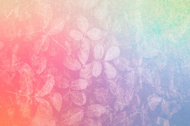 Красочный узор листьев текстурированный фон