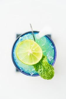 Colorful lemon mocktail