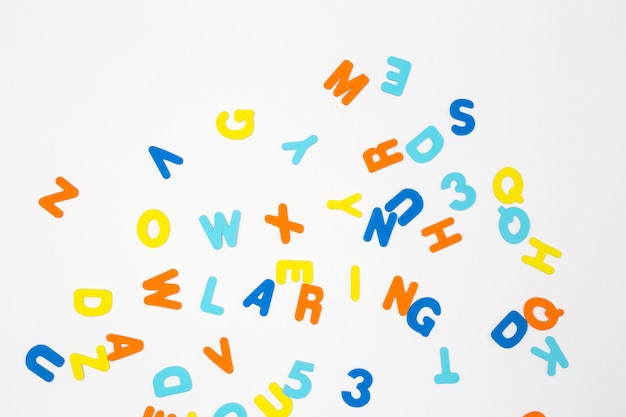 Colorful letters, learning or study concept