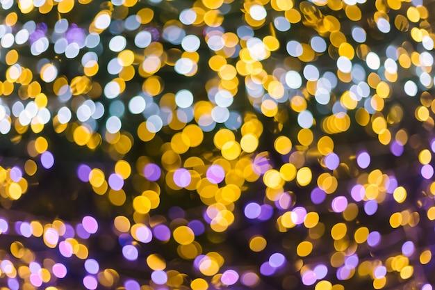 Красочный свет аннотация круговой боке рождества и счастливого нового года фон.