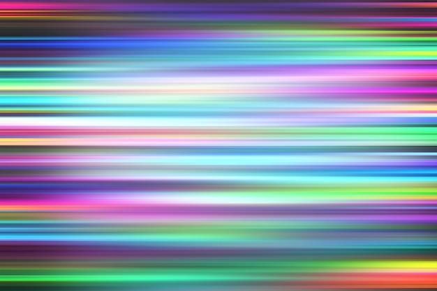 カラフルな光と白い背景の上に高速移動のストライプ