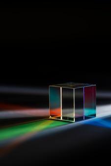Effetto prismi di luce colorati