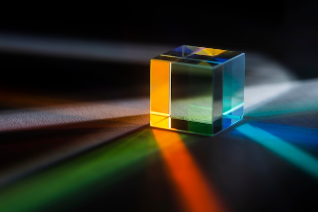 Colorful light prisms effect