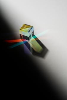 カラフルな光プリズム効果