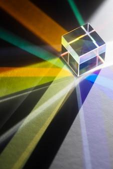 Colorful light prisms reflection