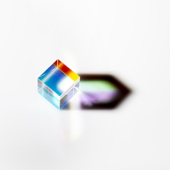 Colorful light rays in prism abstract concept