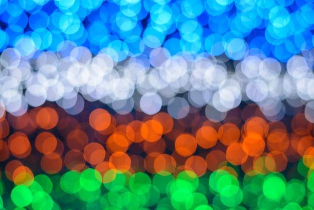 Colorful lights with bokeh effect