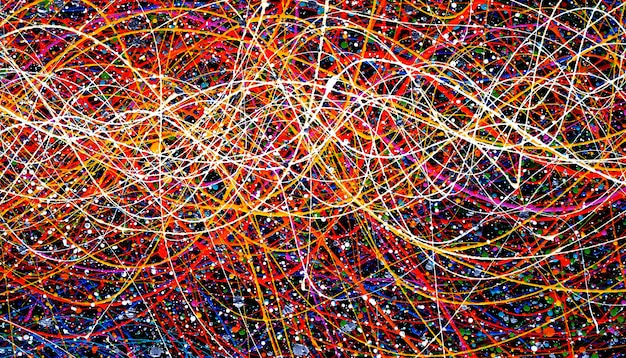 Colorful lines oil painting abstract and texture.