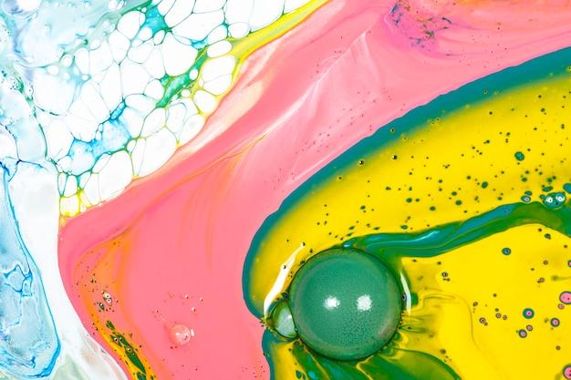 カラフルな液体大理石の背景抽象的な流れるテクスチャ実験アート