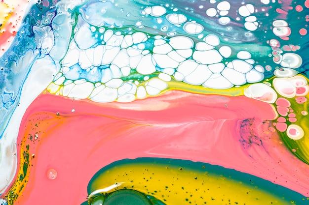 Sfondo di marmo liquido colorato astratto che scorre texture sperimentale arte experimental