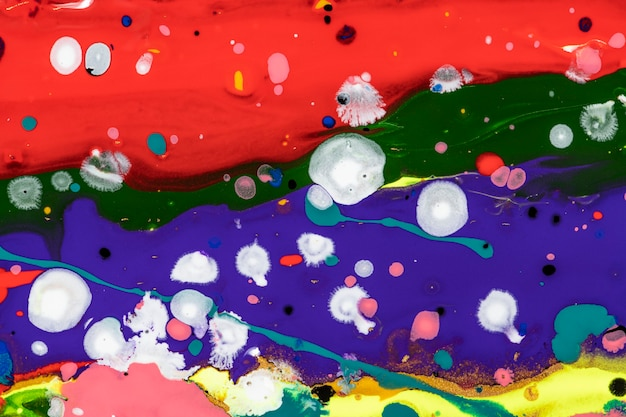 Colorful liquid marble background abstract flowing texture experimental art
