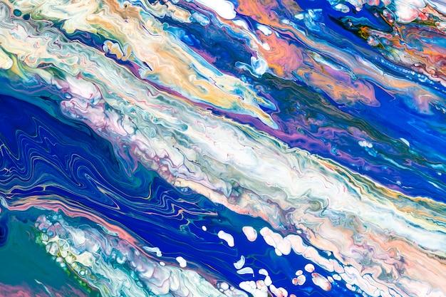 다채로운 액체 대리석 배경 추상 흐르는 질감 실험 예술