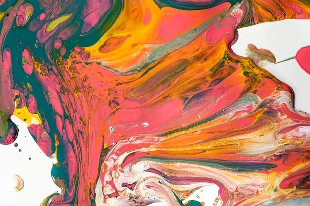 Sfondo di marmo liquido colorato astratto che scorre texture sperimentale arte
