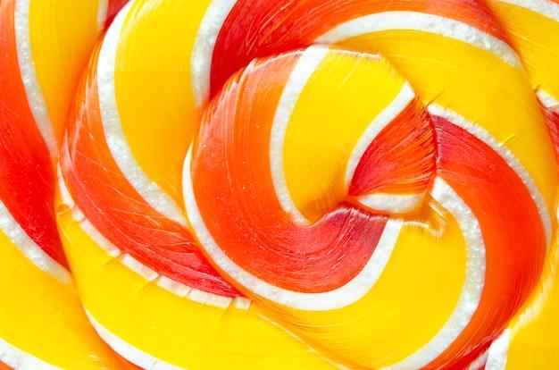 Colorful lollipops close-up.