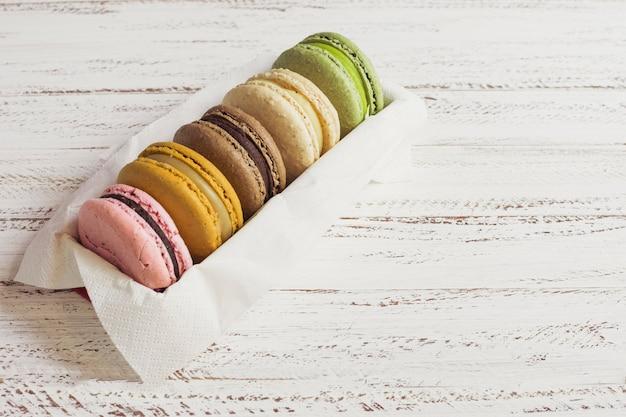 Colorful macaron box