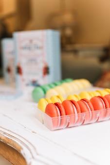 Colorful macaron tray