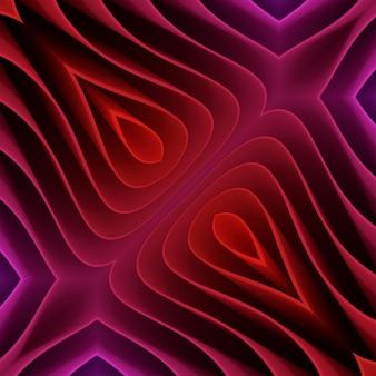 カラフルな多くのシート明るい紙の背景。虹の色の紙の抽象化。さまざまな形状の3dカットアウト