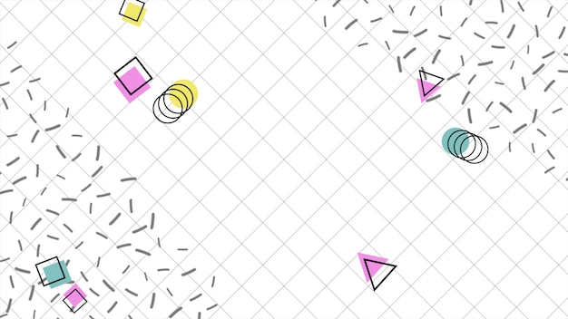 Красочная предпосылка мемфиса, абстрактные геометрические формы. элегантный и роскошный динамичный стиль для делового и корпоративного шаблона, 3d иллюстрации