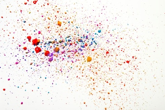 Colorful mess of watercolor drops