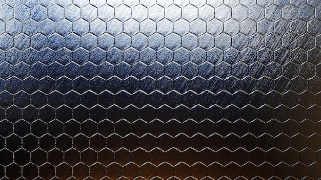 실제 텍스처와 다채로운 금속 육각형 배경