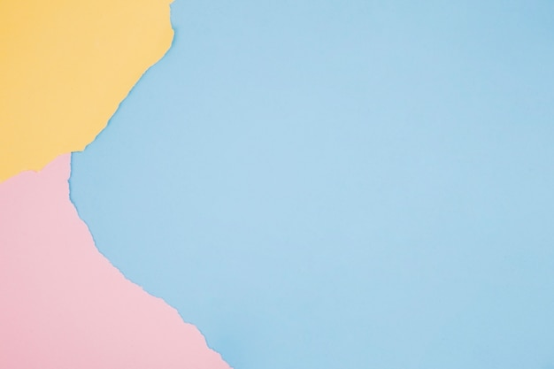Colorful minimalist background with paper