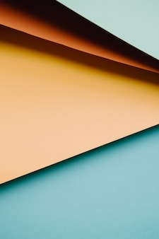 Colorful and minimalist background with pink, yellow,blue and orange pastel colors copy space and modern design