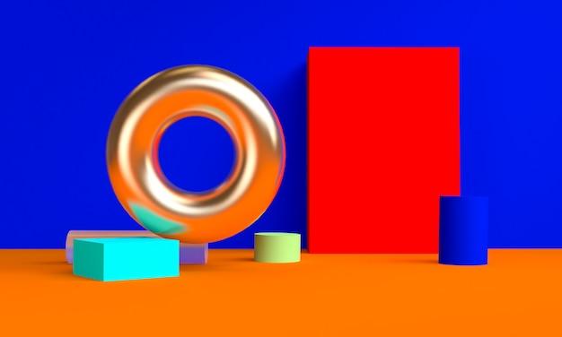 다채로운 미니멀 기하학적 추상 배경