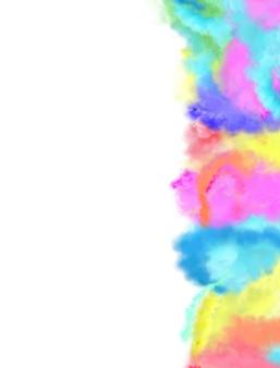 구름처럼 연기가 나는 다양한 색상과 다채로운 혼합. 연기 배경의 구름입니다. 빈 복사본 공간.