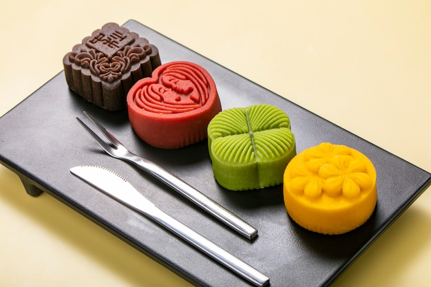 Colorful moon cakes