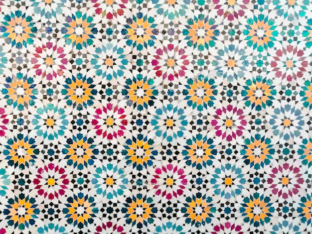 Colorful mosaic pattern background