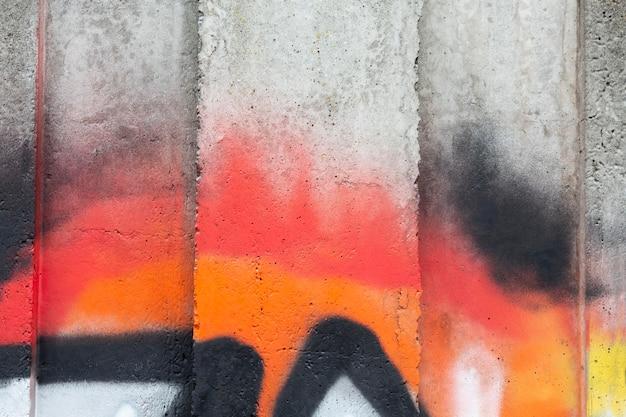 Carta da parati murale con graffiti colorati