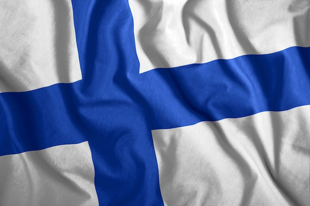 Colorful national flag of finland