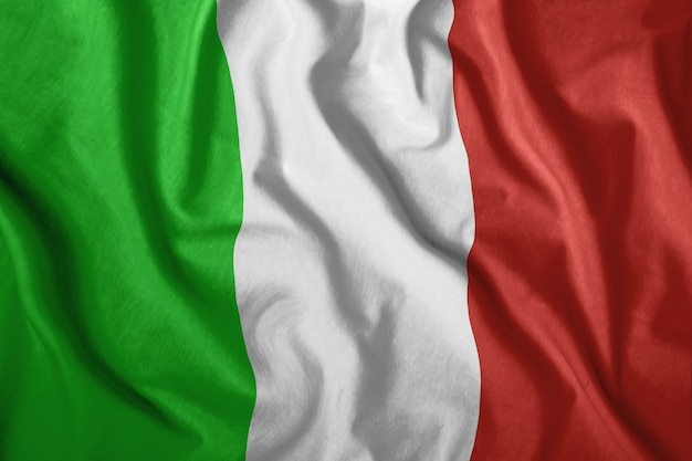 Colorful, national flag of italy